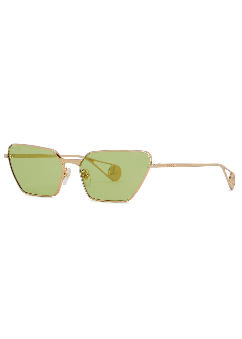 GUCCI | Gucci Gold-Tone Cat-Eye Sunglasses | Goxip