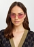 Pink cat-eye sunglasses - Gucci