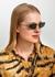 Gold-tone rectangle-frame sunglasses - Gucci