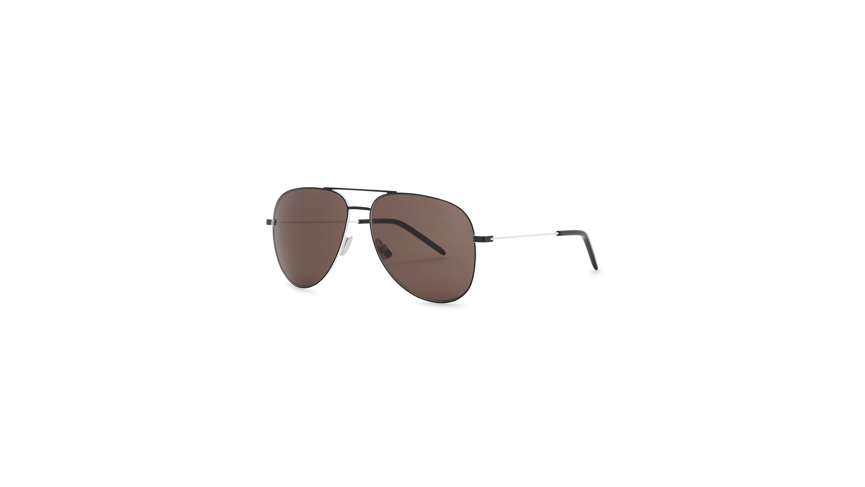 b43fc12237 Saint Laurent Classic 11 black aviator-style sunglasses - Harvey Nichols