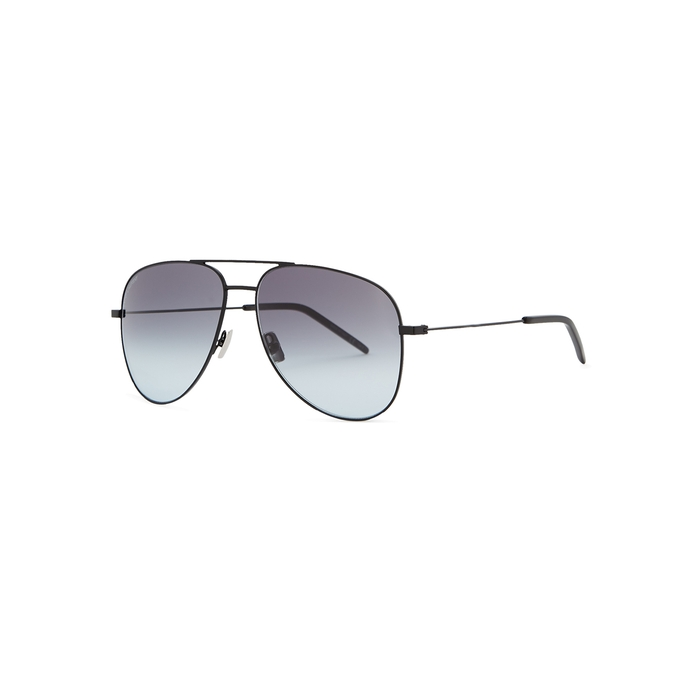 Saint Laurent Classic 11 Black Aviator-style Sunglasses