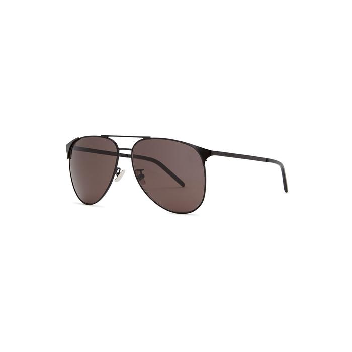 Saint Laurent SL279 Black Aviator-style Sunglasses