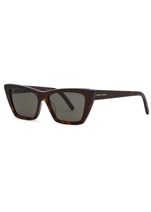 345f45edda438 Saint Laurent Havana cat-eye sunglasses - Harvey Nichols
