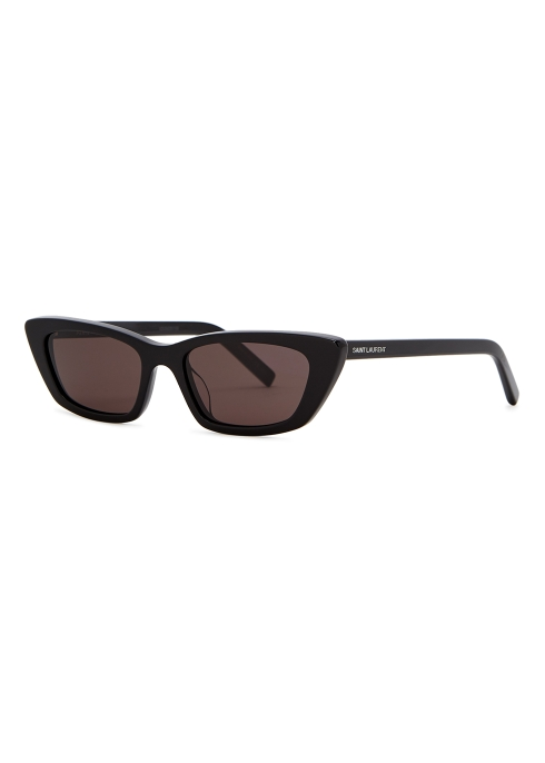 286edbfeb3 Saint Laurent SL277 black cat-eye sunglasses - Harvey Nichols