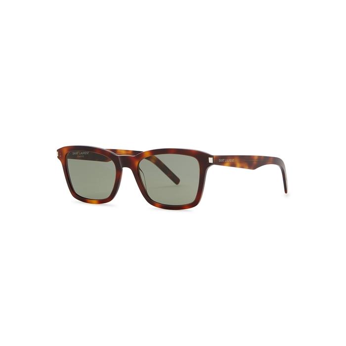 Saint Laurent SL283 Tortoiseshell Square-frame Sunglasses