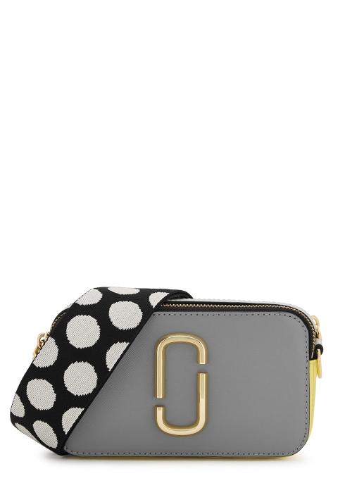 8d444ebb1a420 Marc Jacobs Snapshot light grey leather shoulder bag - Harvey Nichols