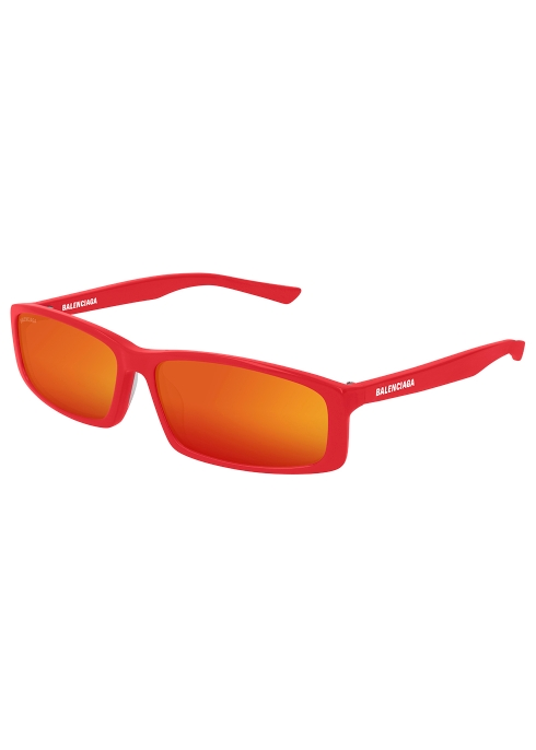 e269228ba5 Balenciaga Red mirrored square-frame sunglasses - Harvey Nichols