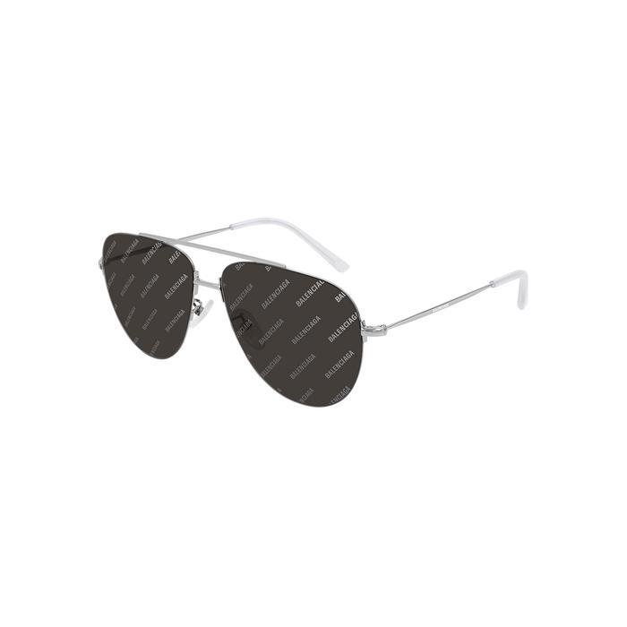 Balenciaga Logo Aviator-style Sunglasses
