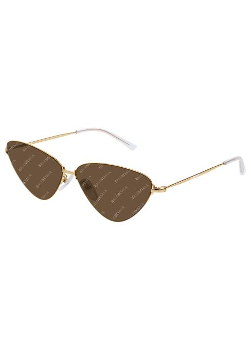d114370646 Balenciaga Logo cat-eye sunglasses - Harvey Nichols