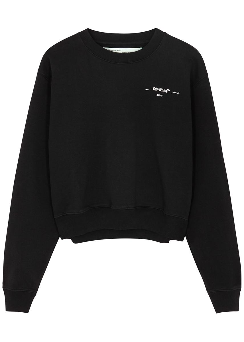 736c780566be Black printed cotton sweatshirt Black printed cotton sweatshirt. New In. Off -White