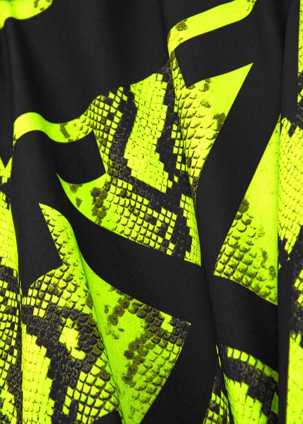Neon green python-print dress - Off-White