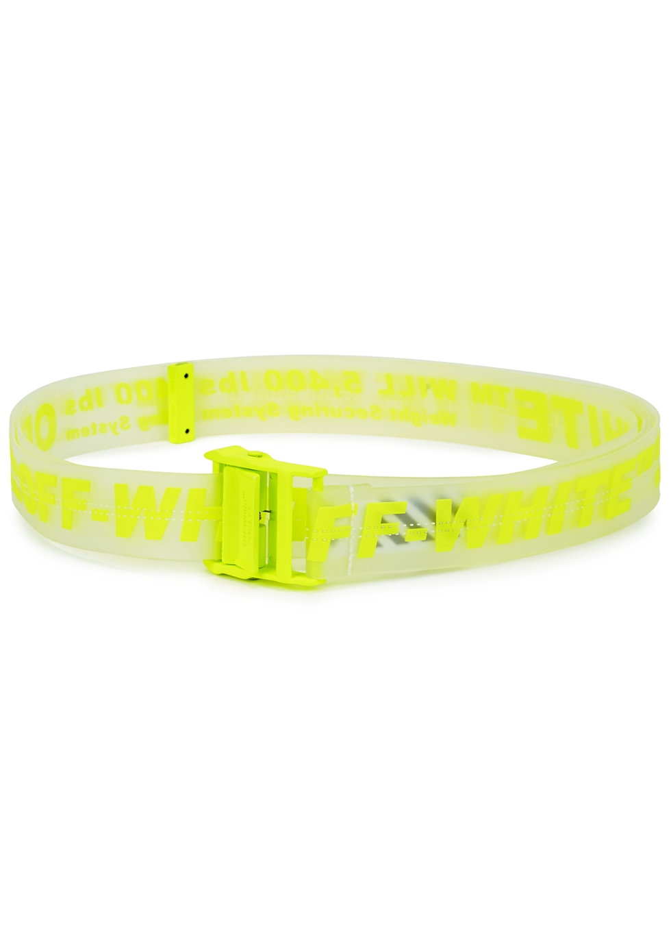 Industrial neon yellow rubberised belt - Off-White