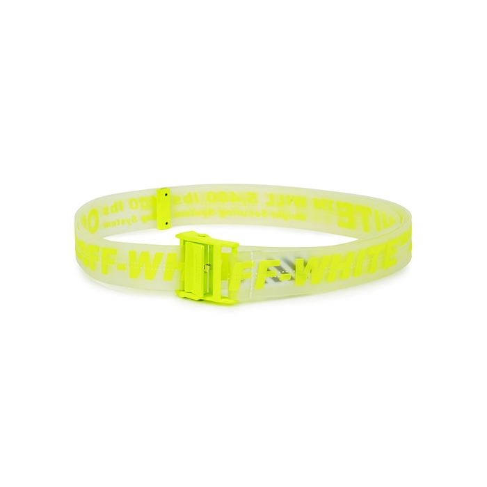 Off-White  Industrial neon yellow rubberised belt