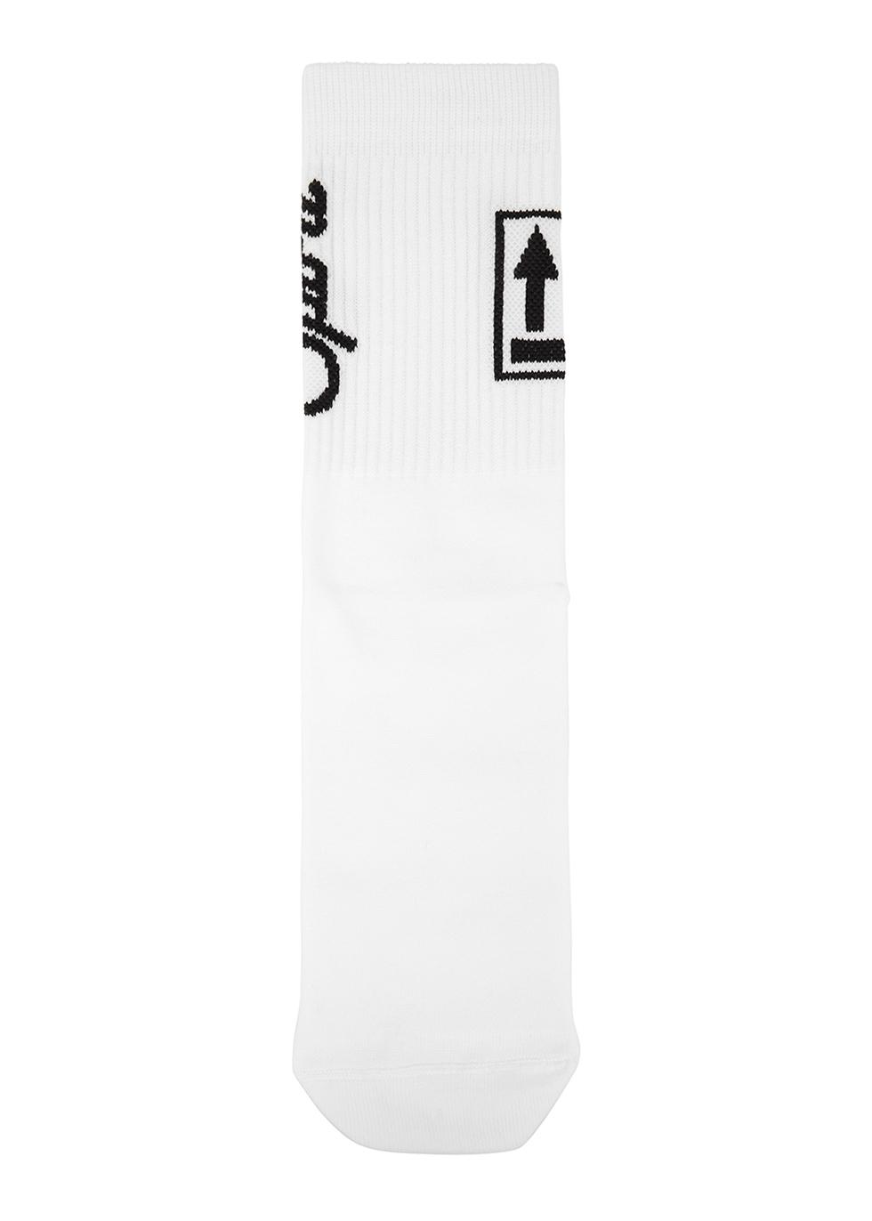 White logo-intarsia socks - Off-White
