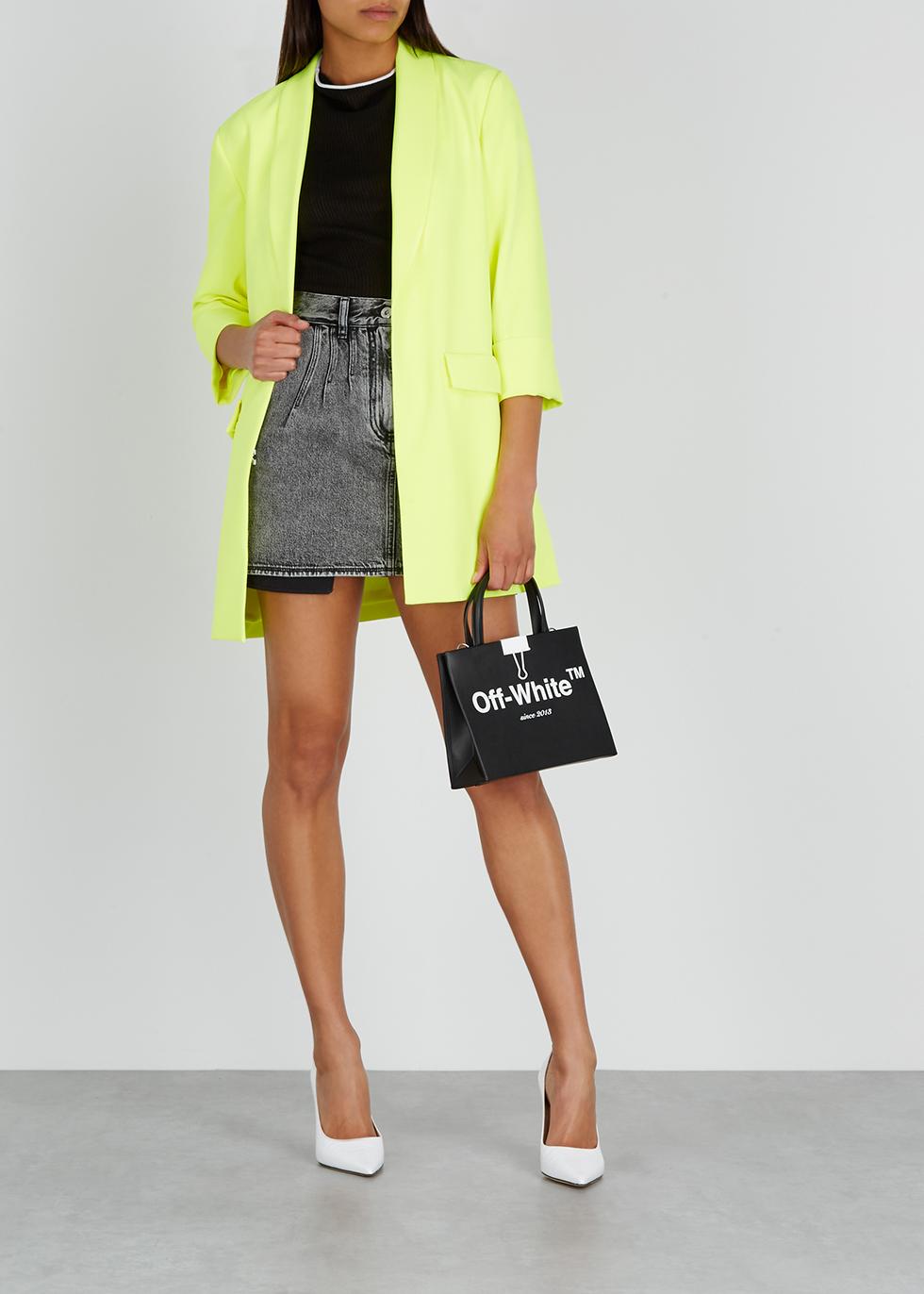 Grey denim mini skirt - Off-White