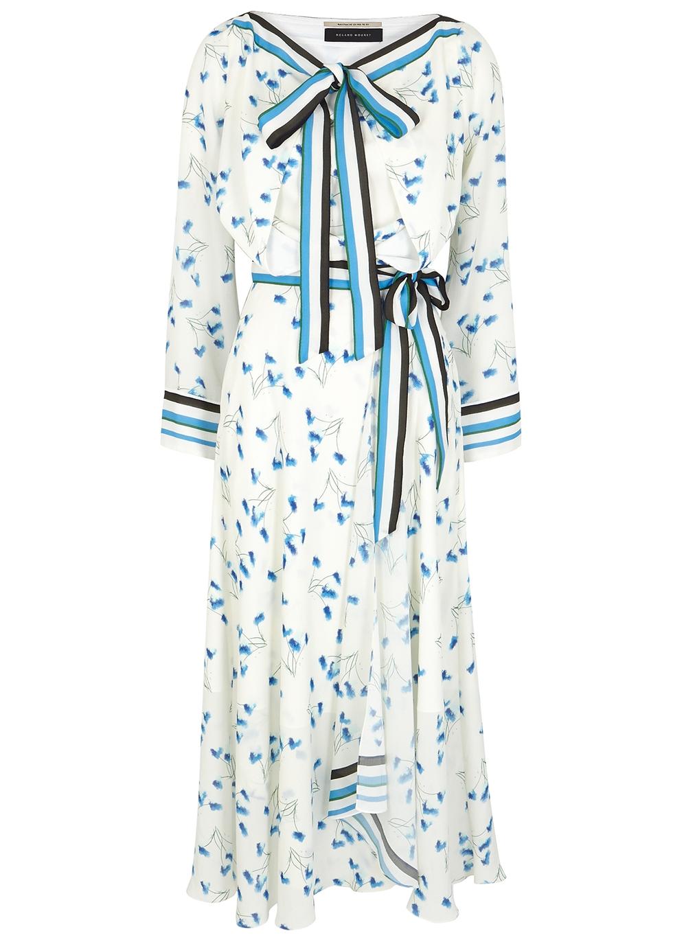 Fernandina printed midi wrap dress - Roland Mouret