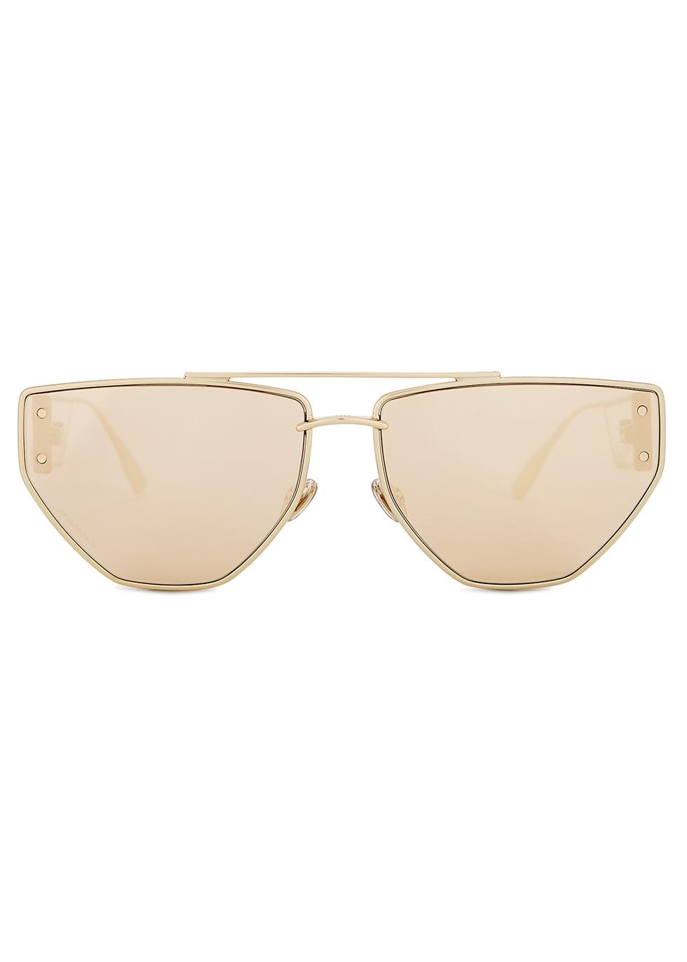 DiorClan 2 mirrored aviator-style sunglasses - Dior