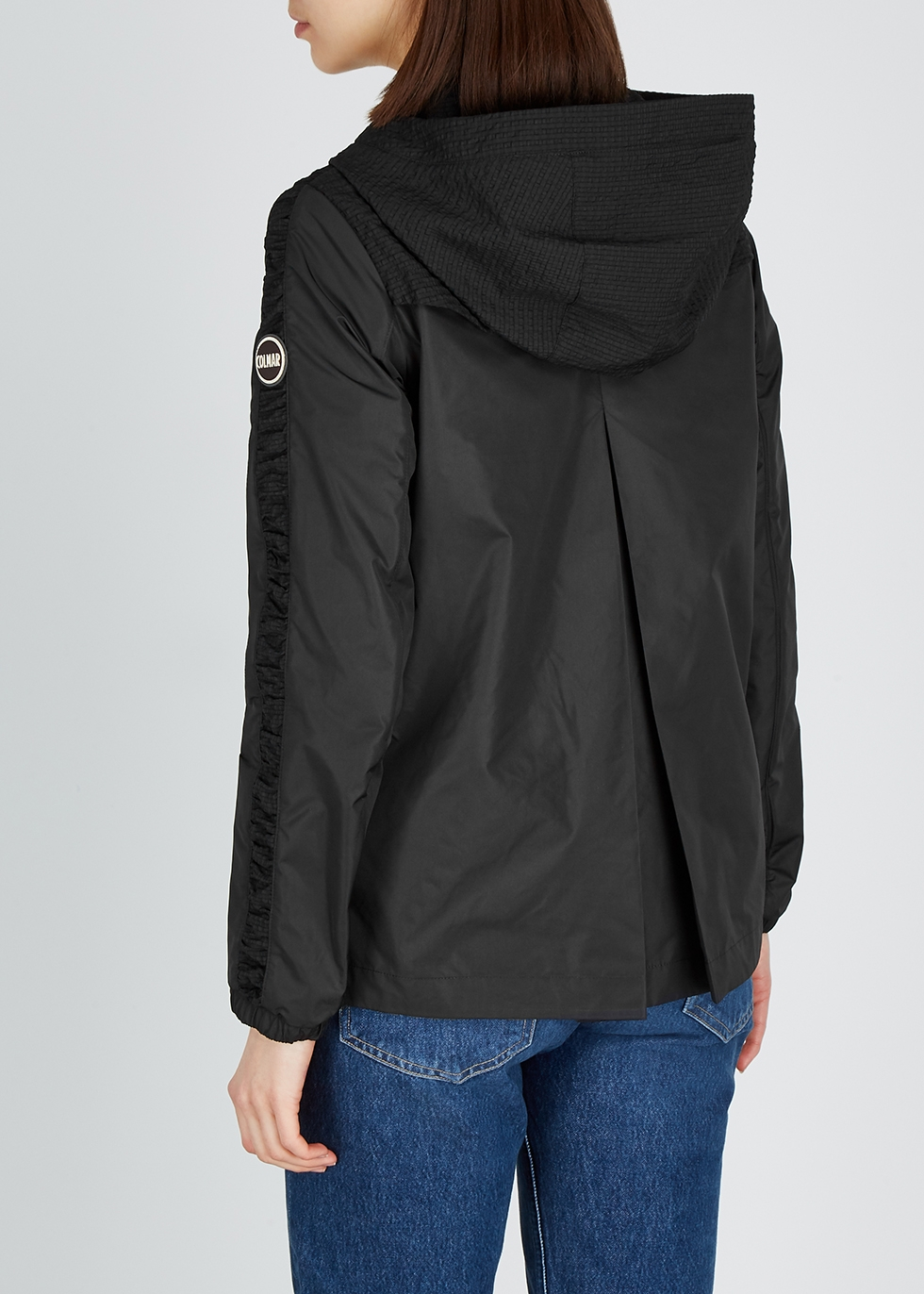 Black hooded shell jacket - Colmar