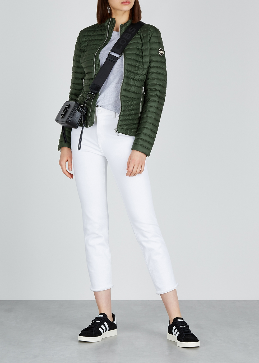 Bottle green quilted shell jacket - Colmar