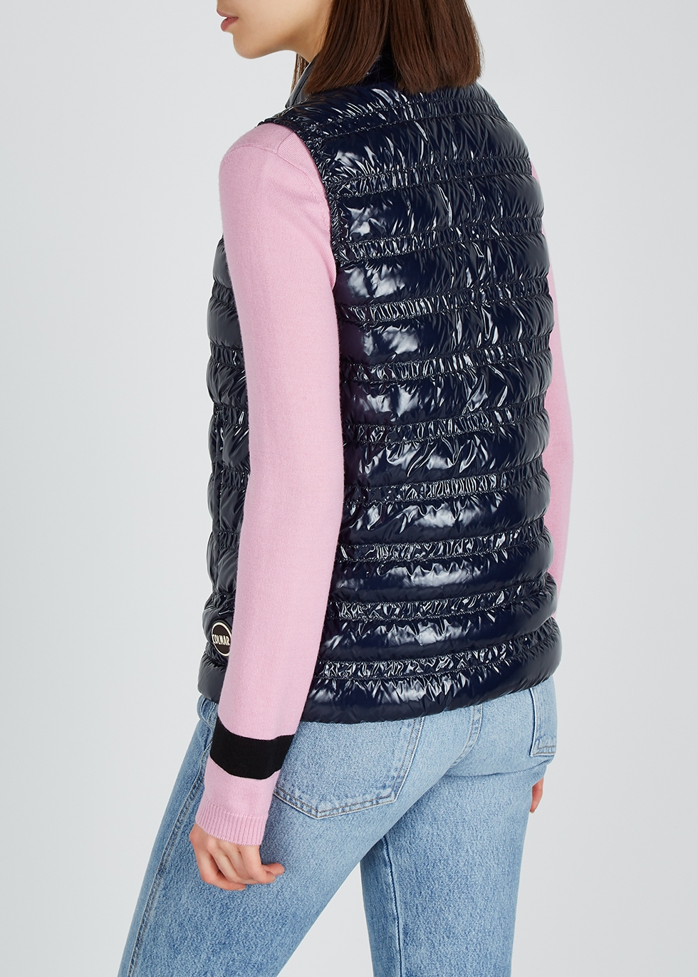 Navy quilted shell gilet - Colmar