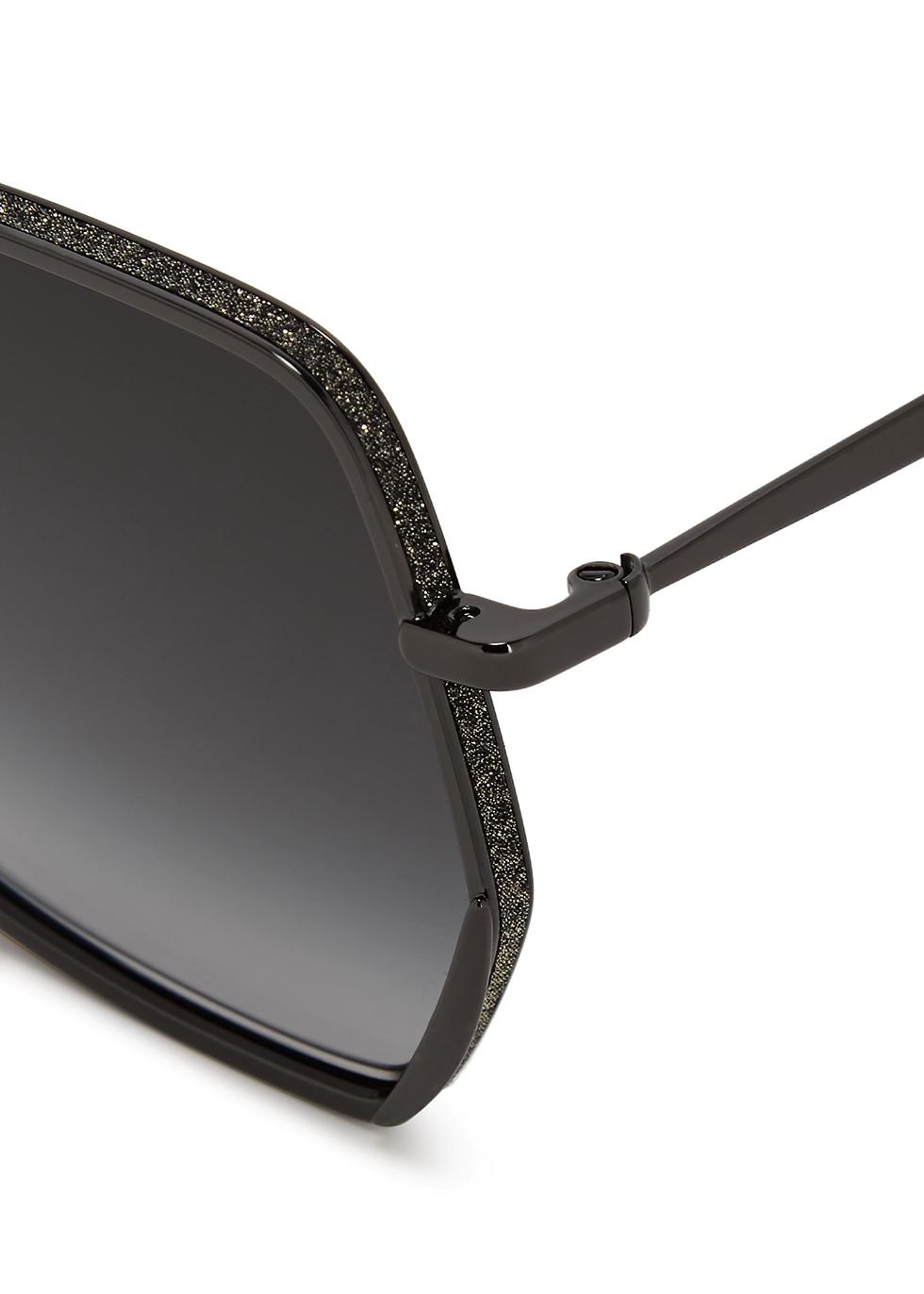 Aline hexagonal-frame sunglasses - Jimmy Choo
