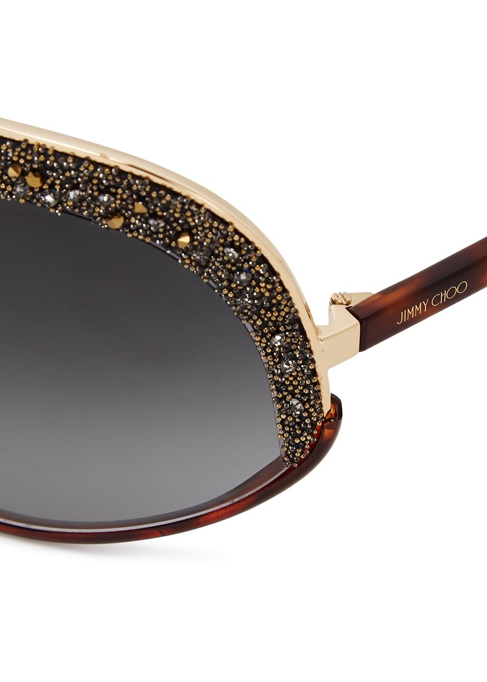 Siryn tortoiseshell wrap-around sunglasses - Jimmy Choo