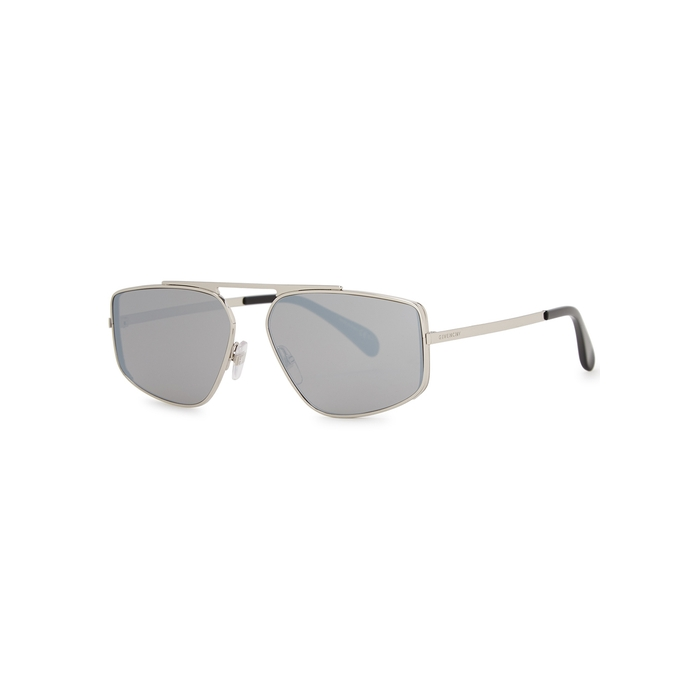 Givenchy Mirrored Aviator-style Sunglasses