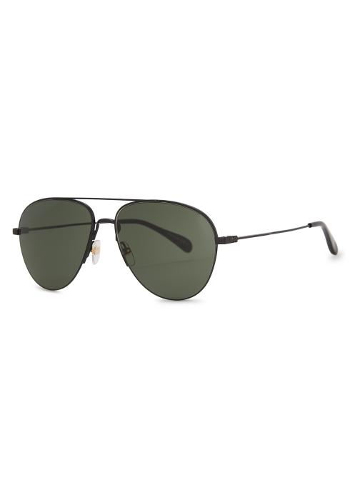 4f7d7e1993 Givenchy Matte black aviator-style sunglasses - Harvey Nichols