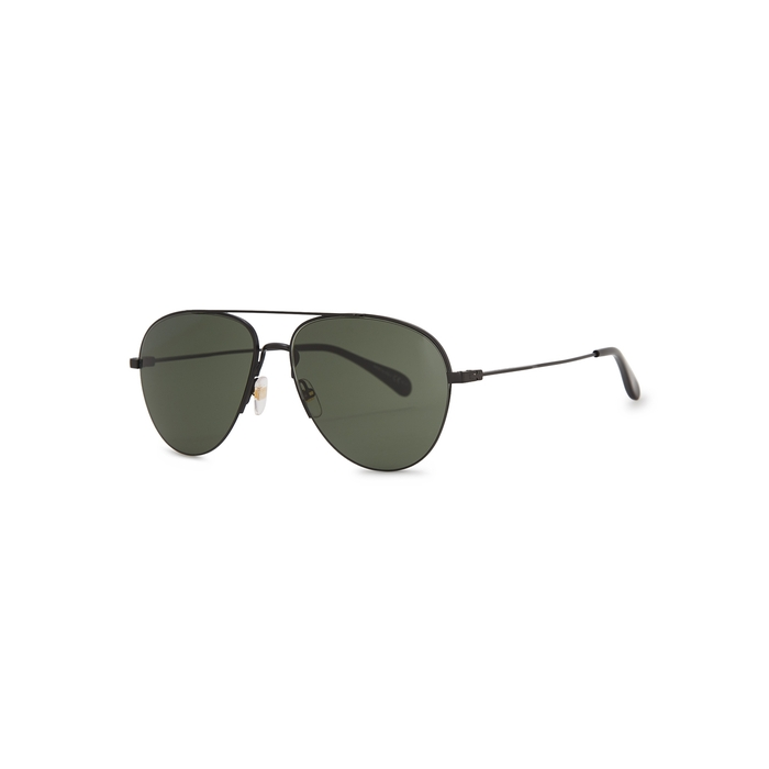Givenchy Matte Black Aviator-style Sunglasses