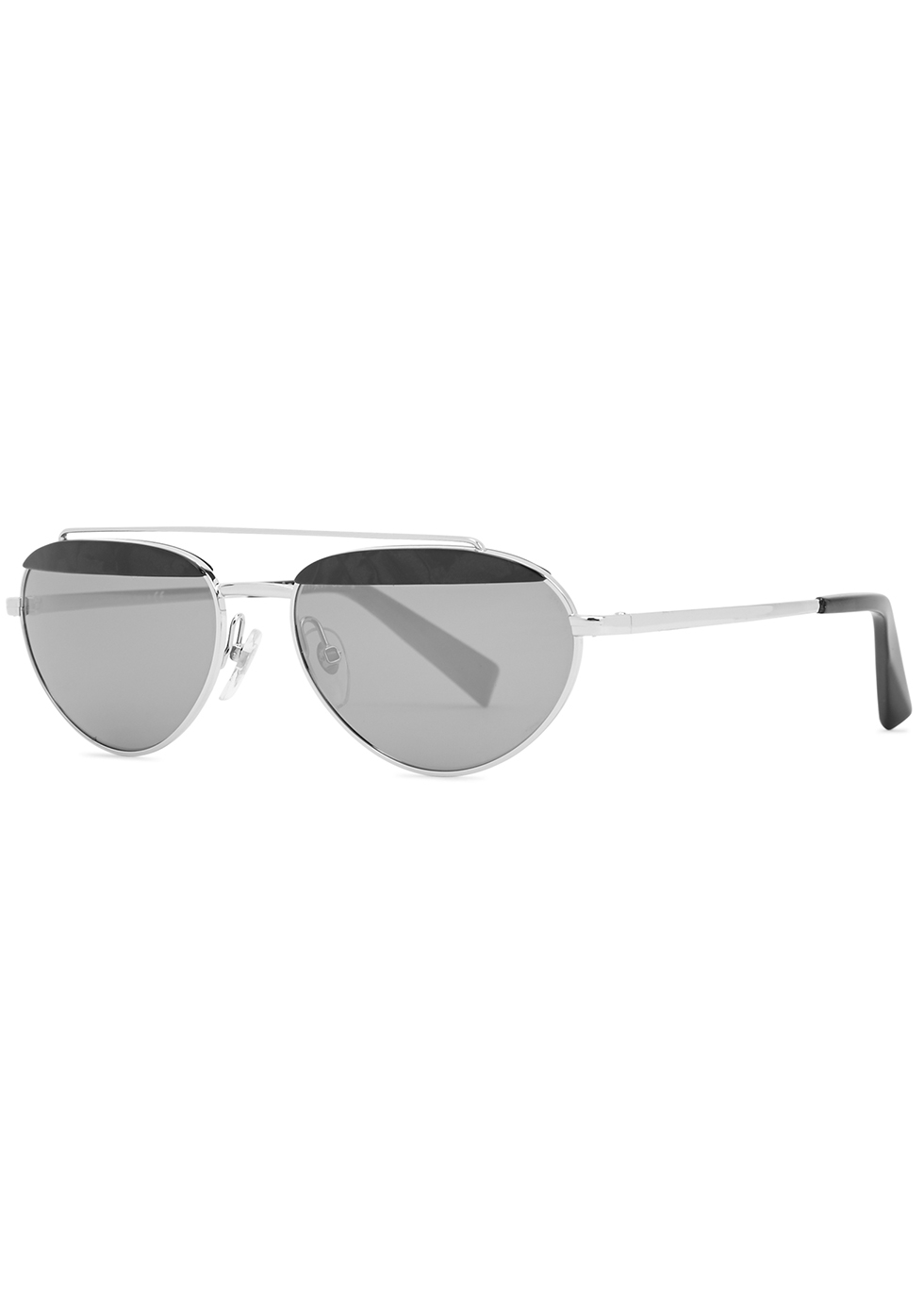 Elicot mirrored oval-frame sunglasses - ALAIN MIKLI