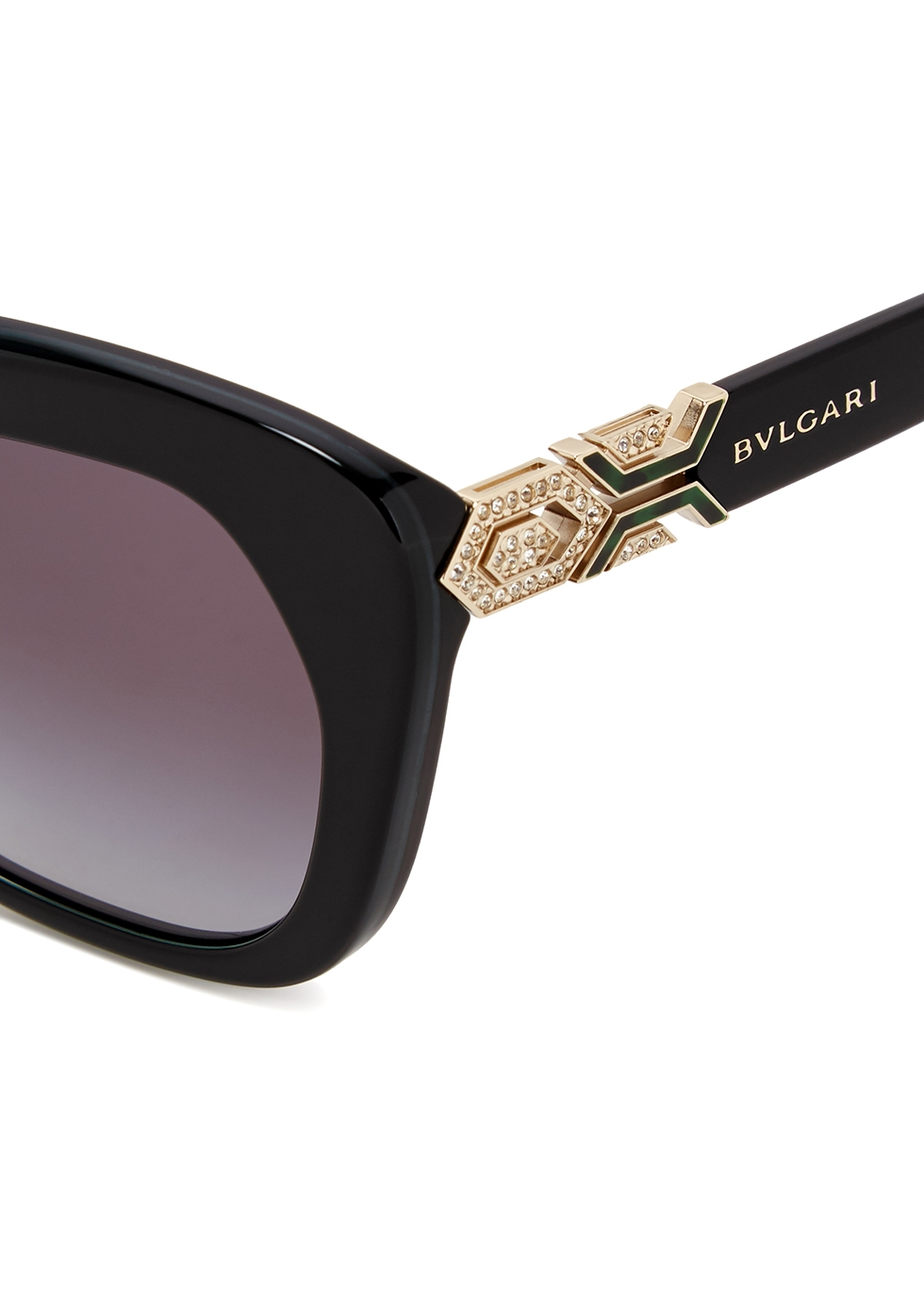 Black oval-frame sunglasses - BVLGARI