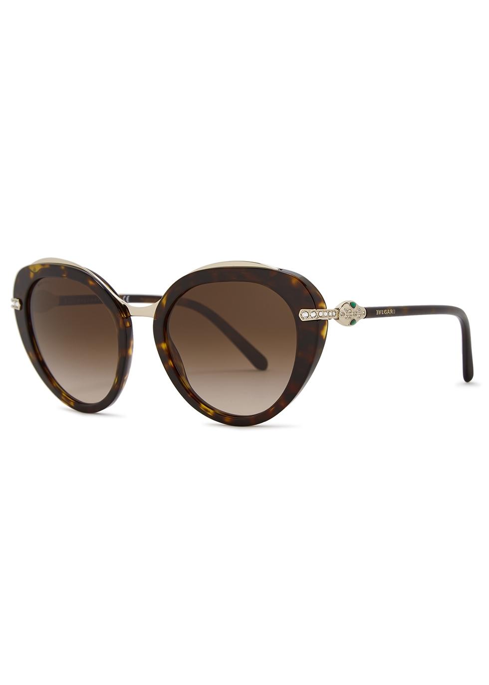 Tortoiseshell oversized sunglasses - BVLGARI