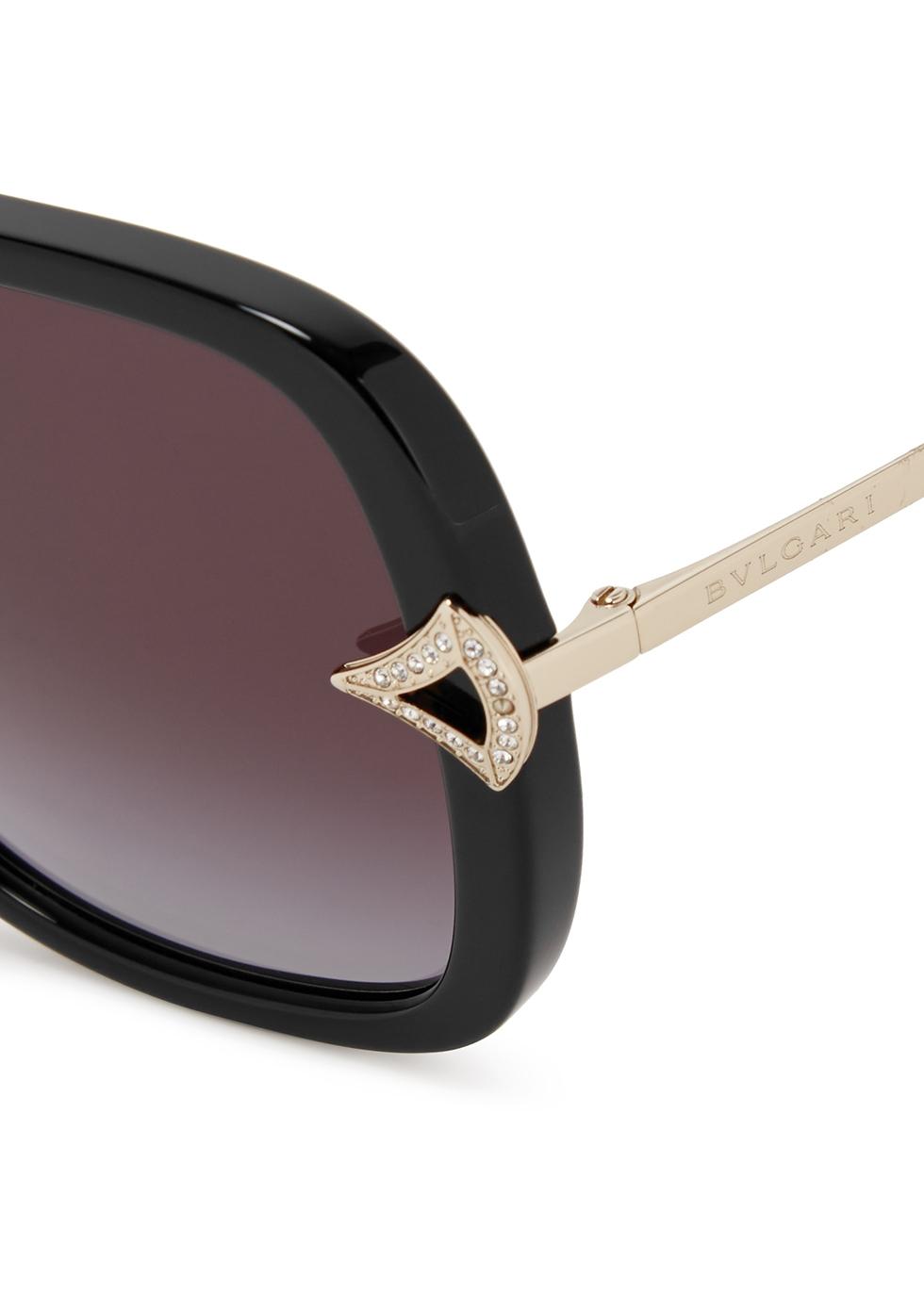 Black oversized sunglasses - BVLGARI