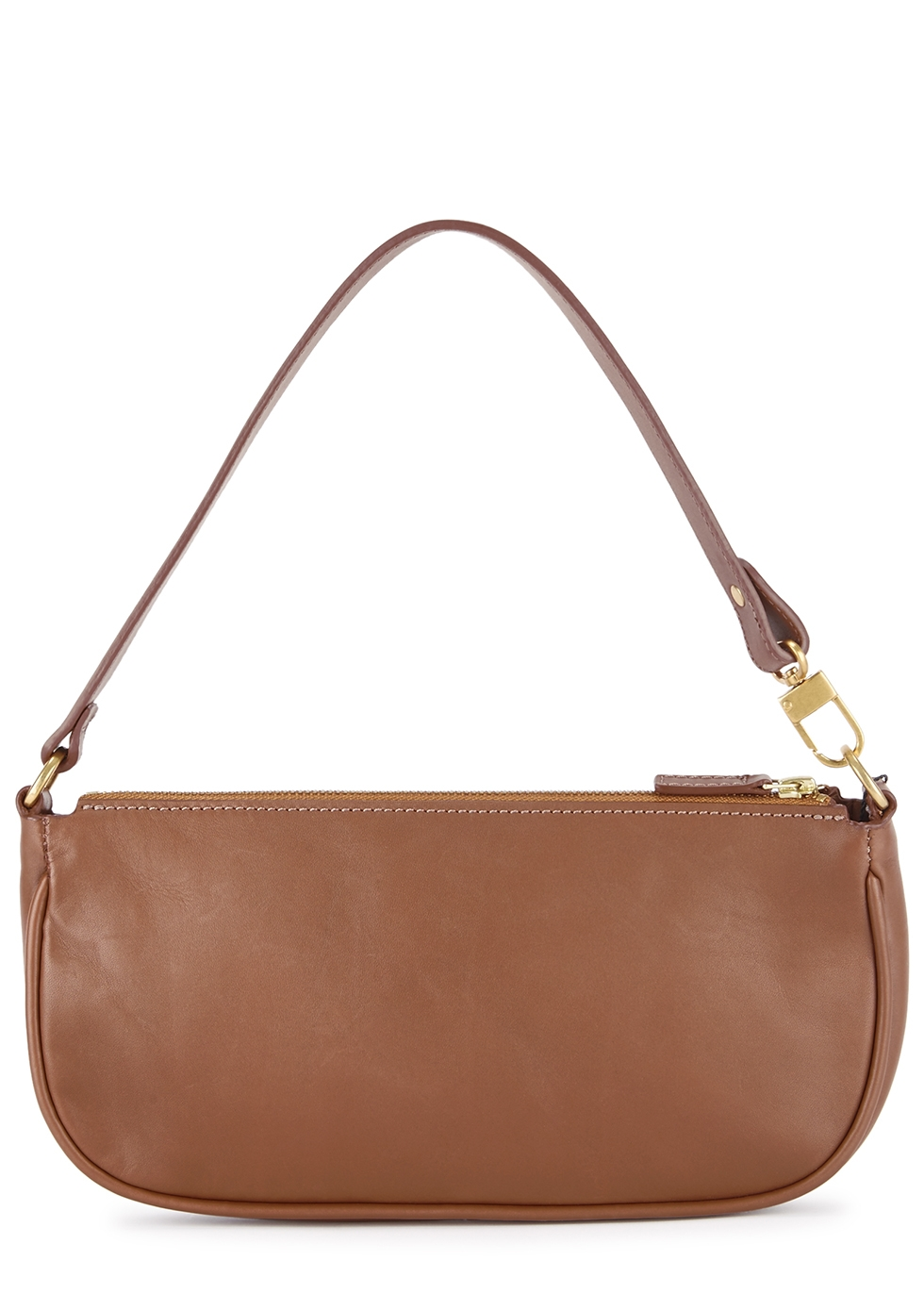 Rachel brown leather top handle bag - BY FAR