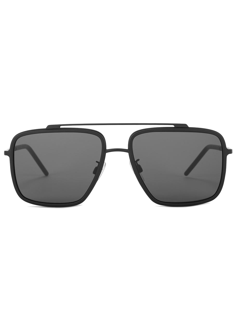 Matte black aviator-style sunglasses - Dolce & Gabbana