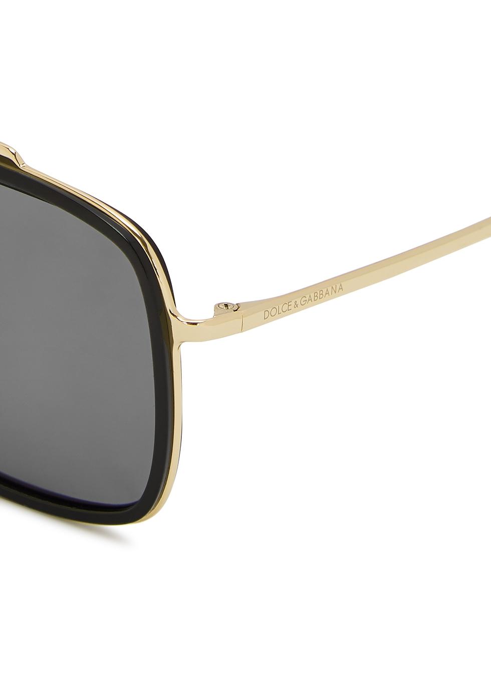 Gold-tone aviator-style sunglasses - Dolce & Gabbana