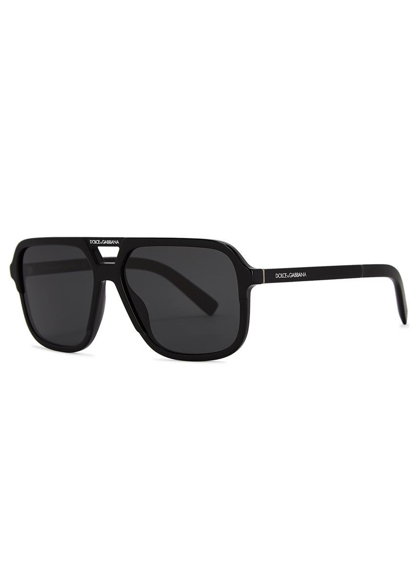 aec782fc64f Black acetate aviator sunglasses. New Season. Dolce   Gabbana