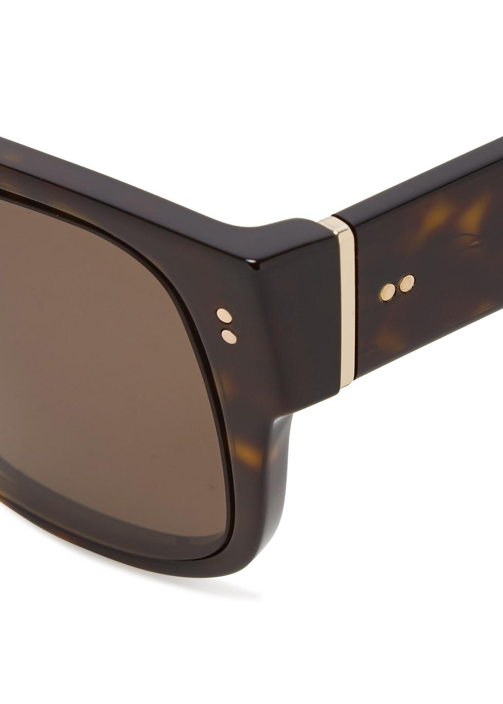 Tortoiseshell D-frame sunglasses - Dolce & Gabbana