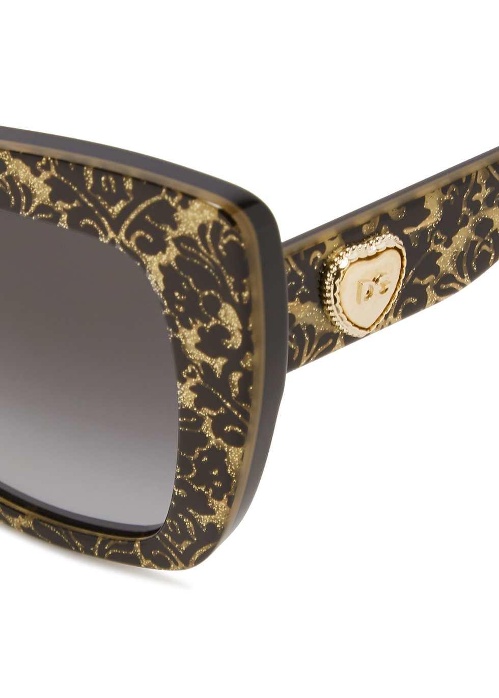 Baroque-print oversized cat-eye sunglasses - Dolce & Gabbana