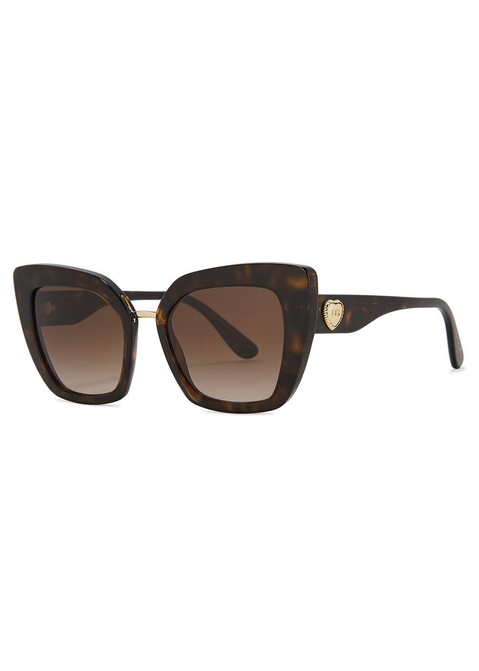 Oversized tortoiseshell cat-eye sunglasses - Dolce & Gabbana
