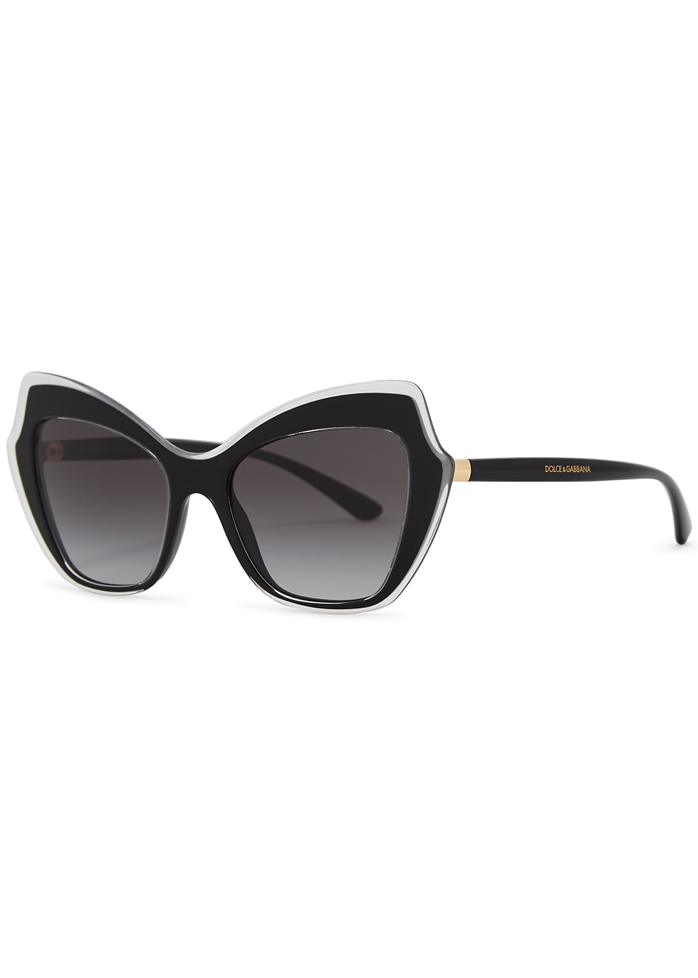 Black oversized cat-eye sunglasses - Dolce & Gabbana