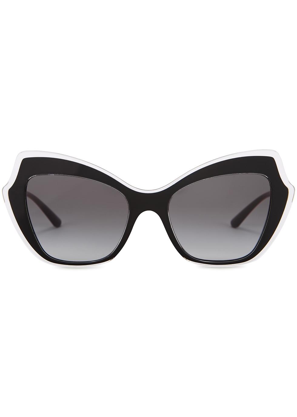Black oversized cat-eye sunglasses - Dolce & Gabbana