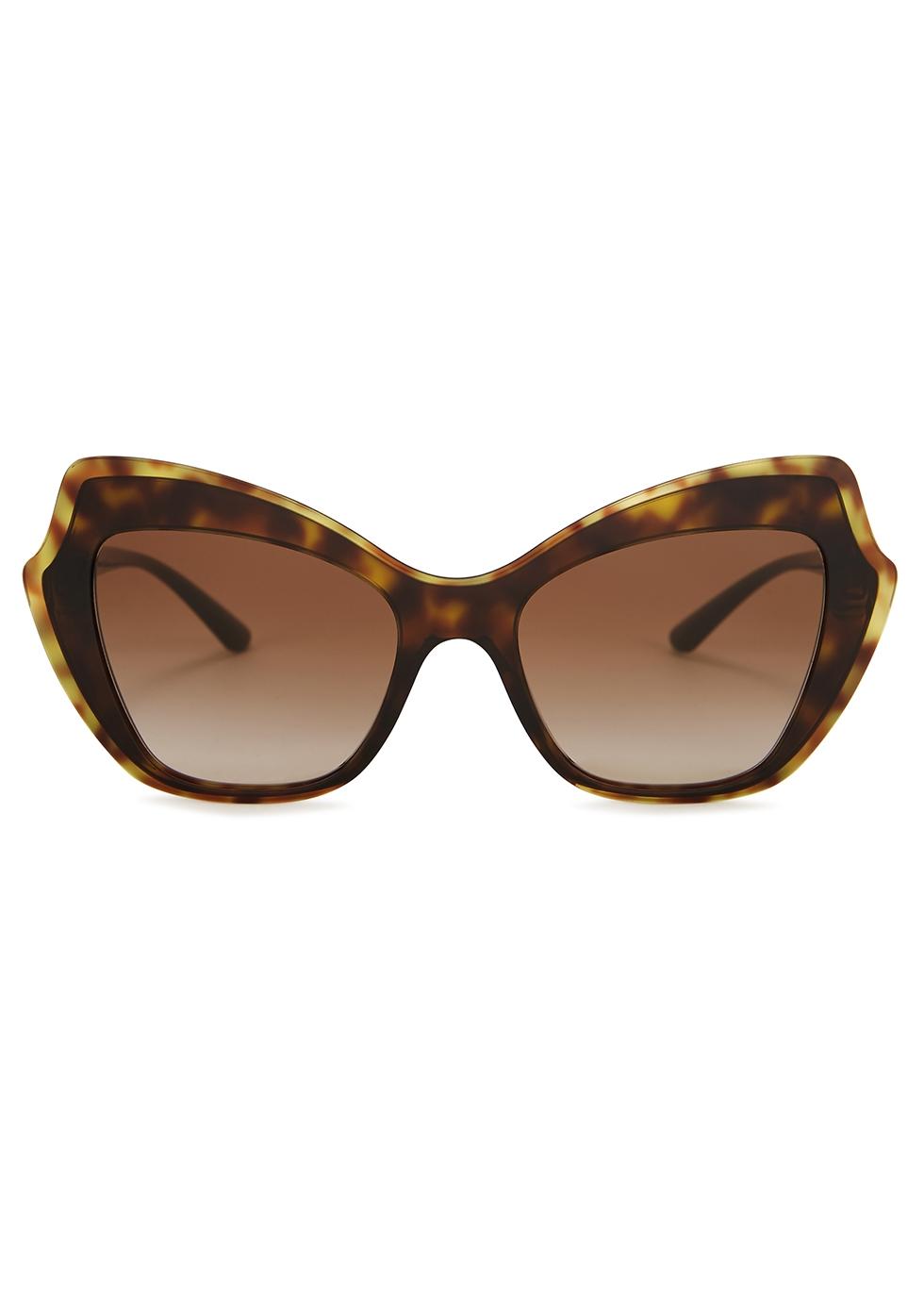 Tortoiseshell oversized cat-eye sunglasses - Dolce & Gabbana