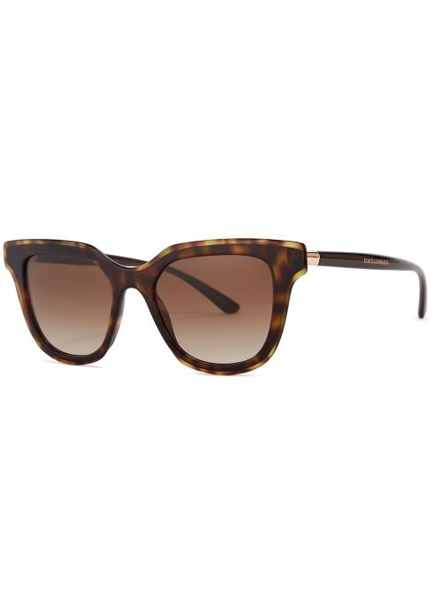 4114c154c41c Dolce   Gabbana Tortoiseshell wayfarer-style sunglasses - Harvey Nichols