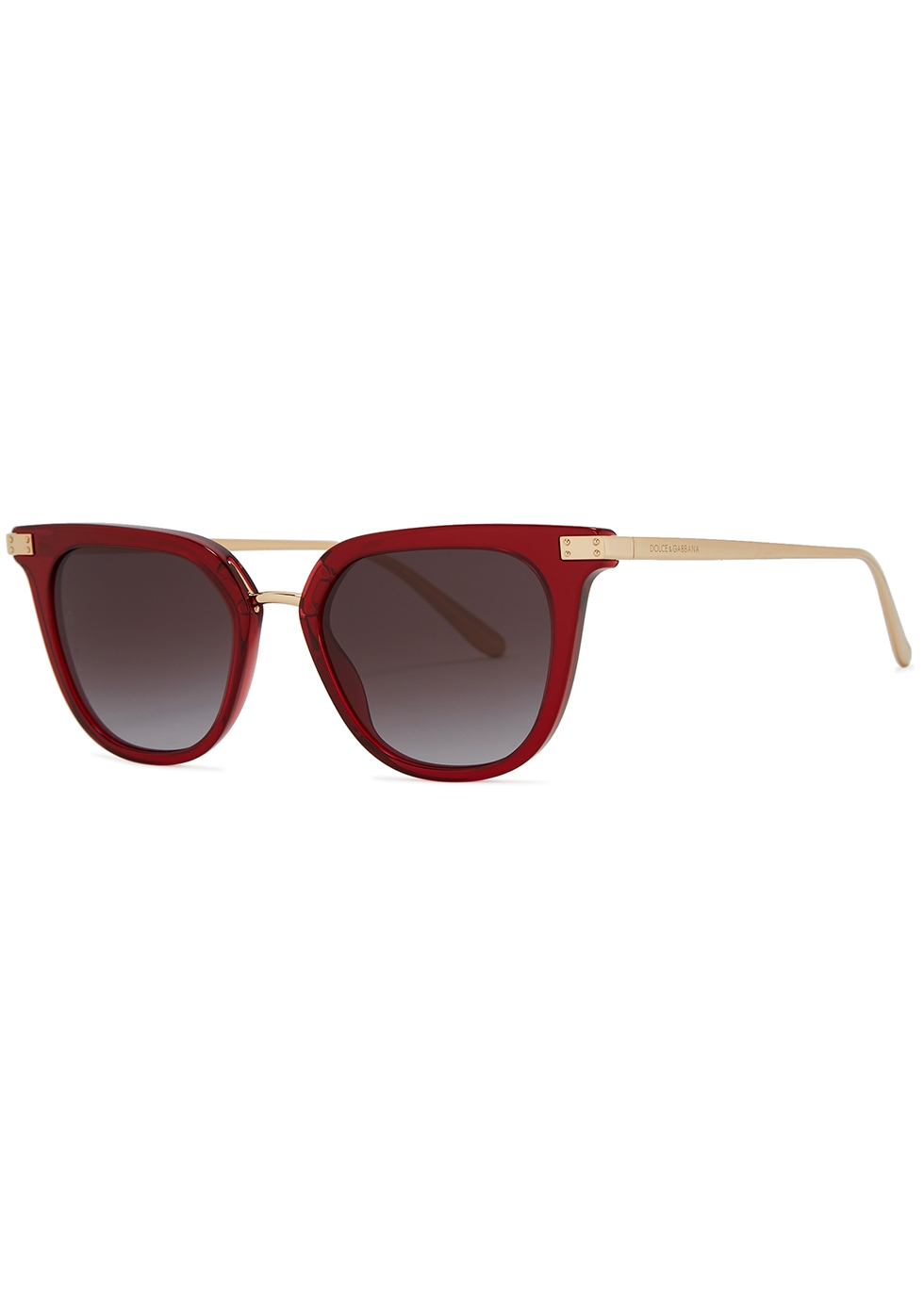 Red oval-frame sunglasses - Dolce & Gabbana