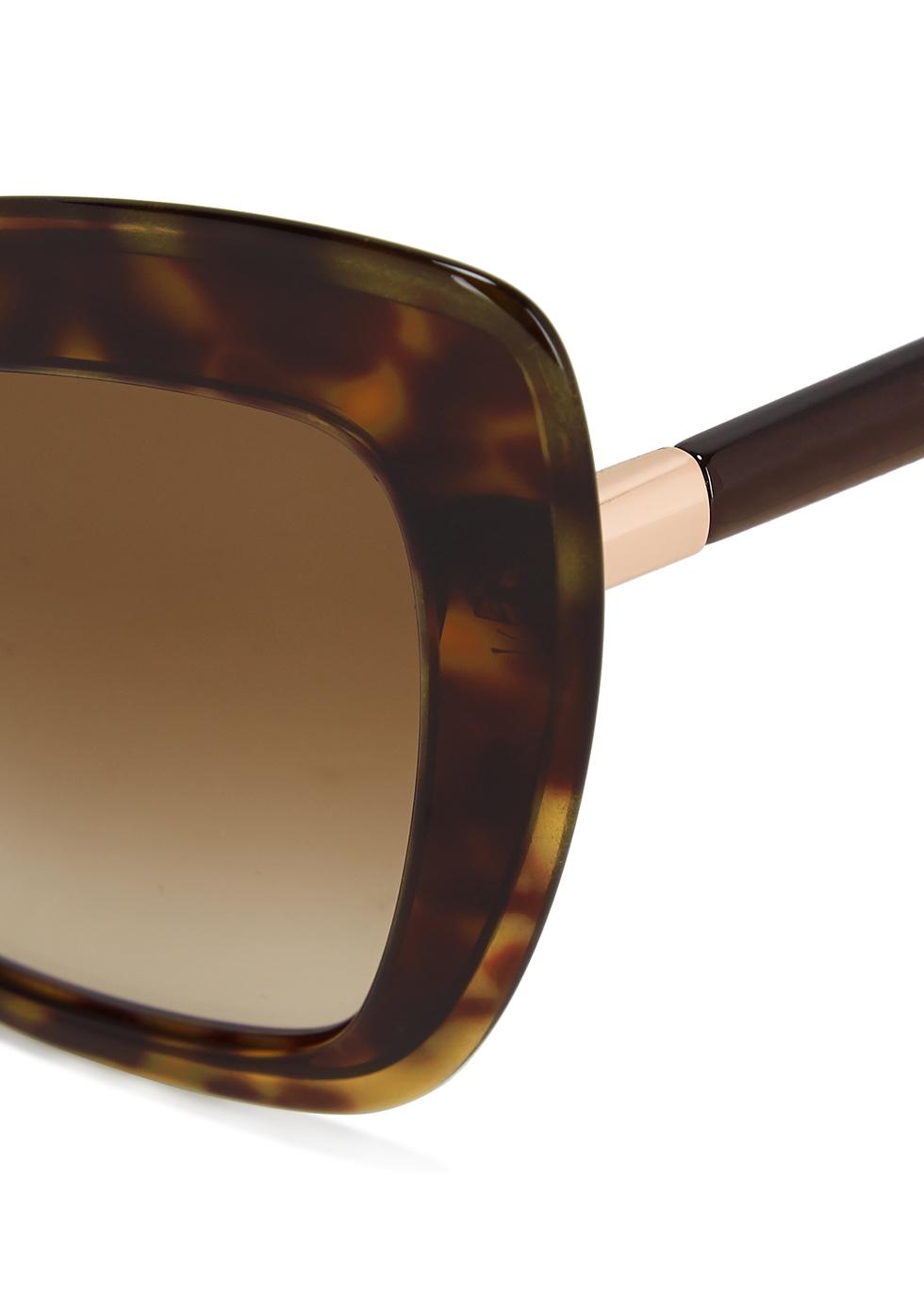Tortoiseshell cat-eye sunglasses - Dolce & Gabbana