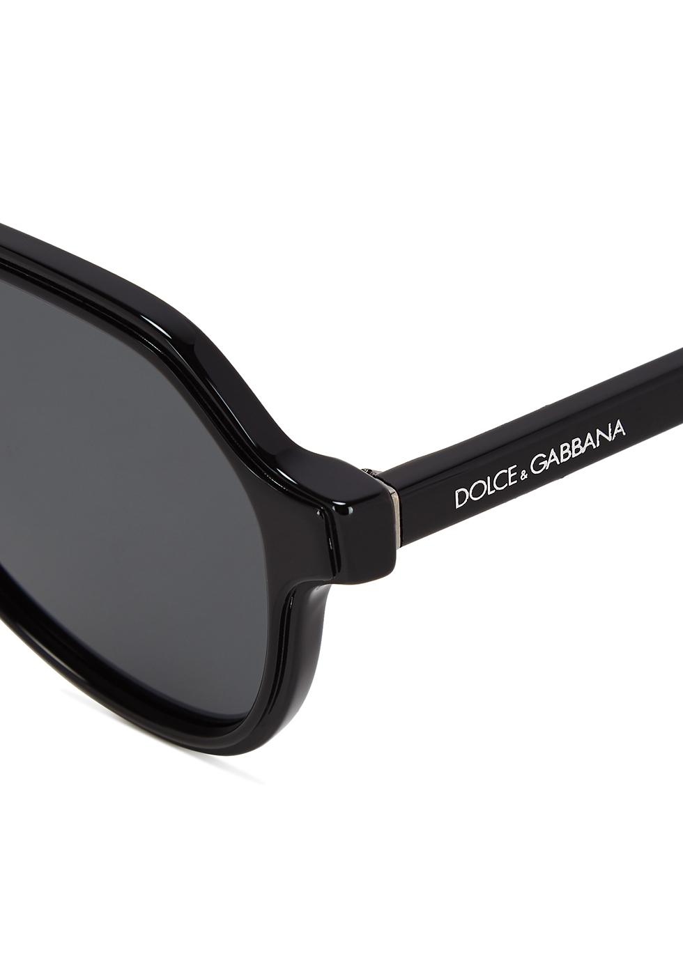 Black aviator-style sunglasses - Dolce & Gabbana