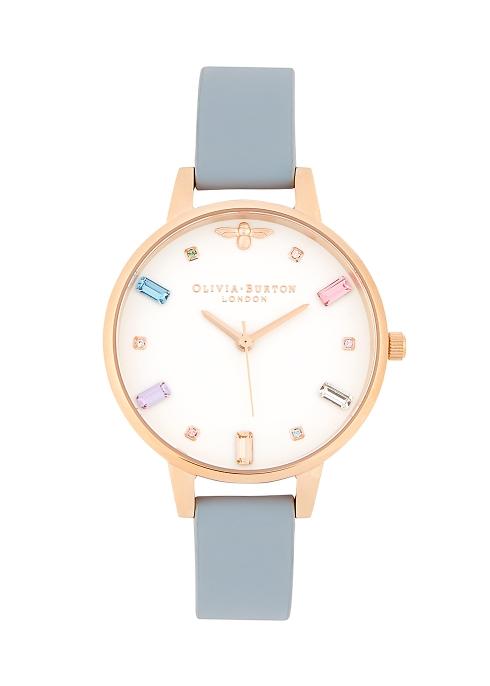 7710f40db524 Olivia Burton Rainbow Bee Demi rose gold-plated watch - Harvey Nichols