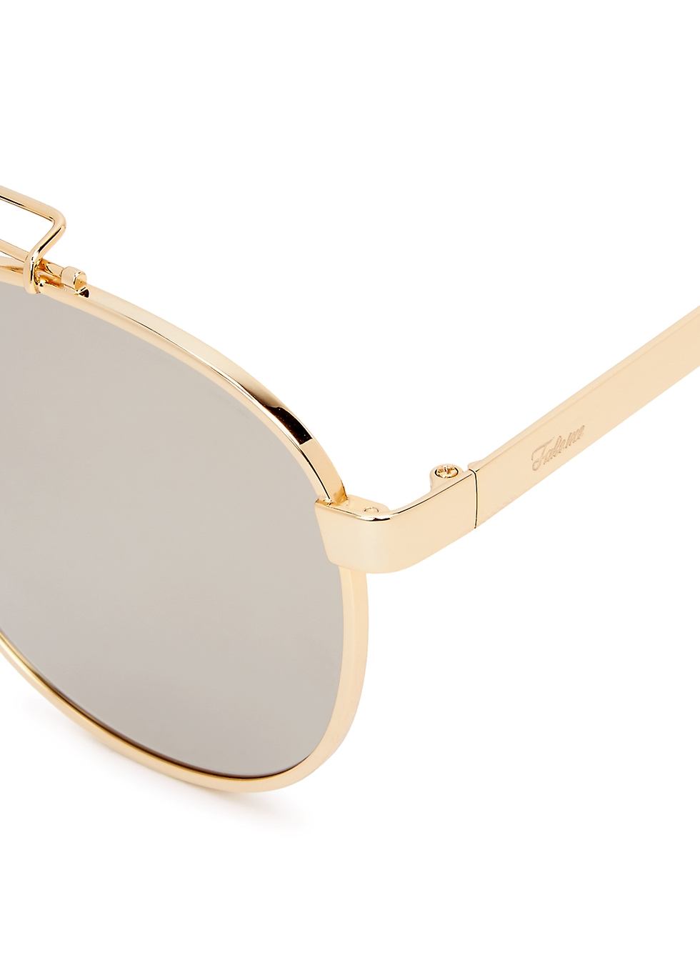 Ozzy mirrored oval-frame sunglasses - FAKE ME