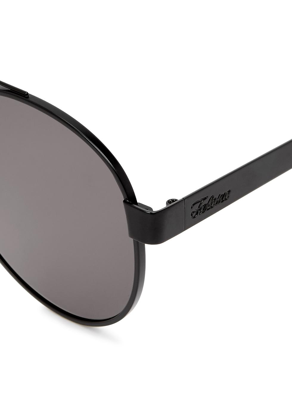 Forer black round-frame sunglasses - FAKE ME